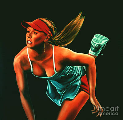 Us Open Painting - Maria Sharapova  by Paul Meijering