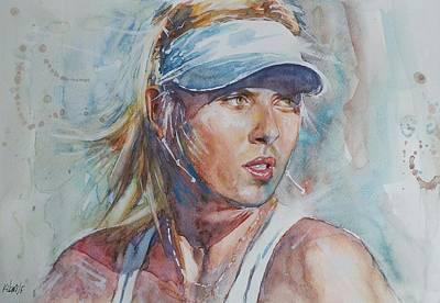 Maria Sharapova - Portrait 1 Print by Baresh Kebar - Kibar
