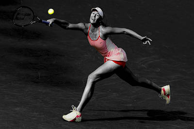 Maria Sharapova Reaching Out Art Print by Brian Reaves