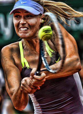 Maria Sharapova Art Print by Srdjan Petrovic
