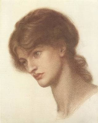 Rossetti Drawing - Maria Spartali Mrs. Stillman Or  A Study For Dante's Dream At The Time Of The Death Of Beatrix by Philip Ralley