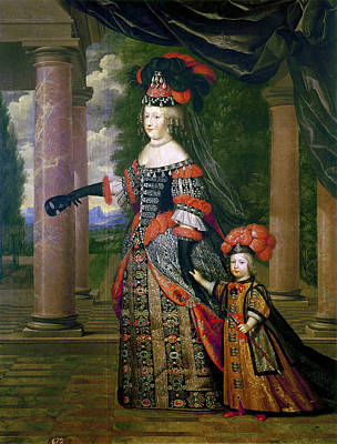 Mother Theresa Painting - Maria Theresa Of Spain (1638-1683) by Granger