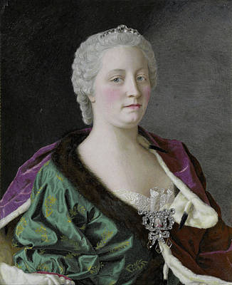 80 Drawing - Maria Theresia Van Oostenrijk 1717-80, Archduchess by Litz Collection