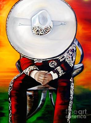Mexicano Painting - Mariachi 1 by Barbara  Rivera