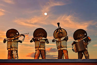 Fiddle Photograph - Mariachi Band by Christine Till