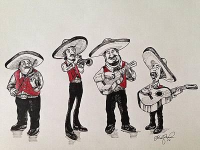 Cinco De Mayo Mixed Media - Mariachi by Michael  Parrella
