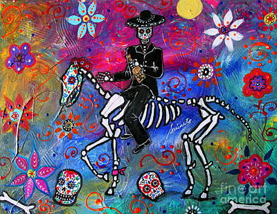Painting - Mariachi Rider by Pristine Cartera Turkus