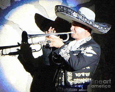 Photograph - Mariachi Shadow by Rachel Munoz Striggow