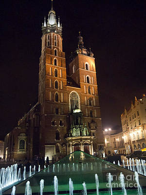 Photograph - Mariacki Church At Night by Brenda Kean