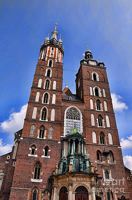 Photograph - Mariacki Church Krakow by Brenda Kean