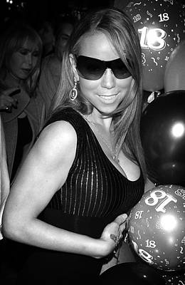 Celebrities Photograph - Mariah Carey by Paul Sutcliffe