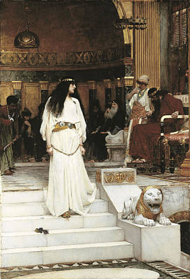 Accused Photograph - Mariamne, 1887 Oil On Canvas by John William Waterhouse