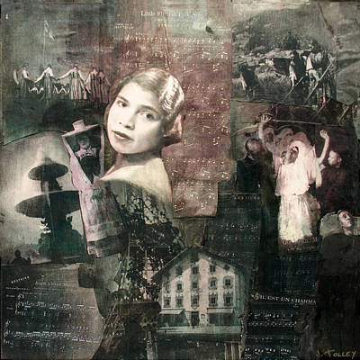 Singer Mixed Media - Marian Anderson by Judy Tolley
