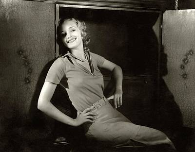 Marian Photograph - Marian Marsh Smiling by Edward Steichen