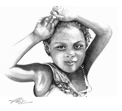 Drawing - Mariane by Bob Salo