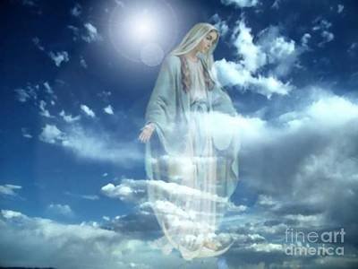 Miraculous Digital Art - Maria's Apparition by Archangelus Gallery