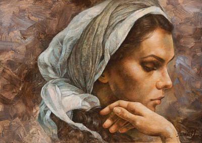 Wall Art - Painting - Maria's Portrait 2 by Arthur Braginsky