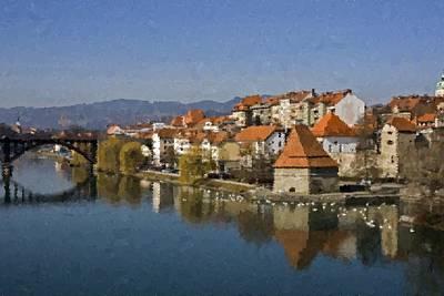 Painting - Maribor Slovenia by Samuel Majcen