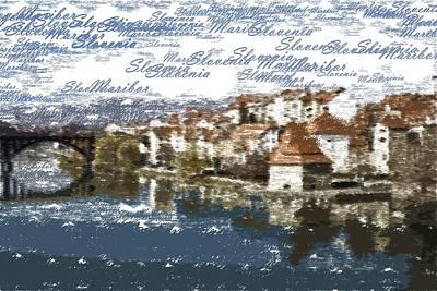 Painting - Maribor Slovenia - Typography by Samuel Majcen