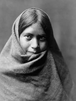 Maricopa Indian Woman Circa 1907 Art Print
