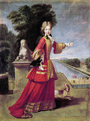 Duchess Painting - Marie Adelaide Of Savoy (1685-1712) by Granger
