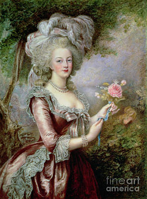 Versailles Painting - Marie Antoinette After Vigee Lebrun by Louise Campbell Clay