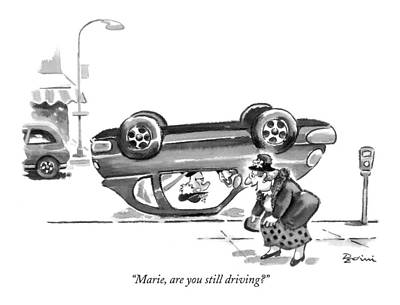 Street Drawing - Marie, Are You Still Driving? by Eldon Dedini