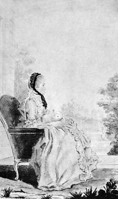 Marie De Vichy-chamrond (1679-1780) Art Print by Granger