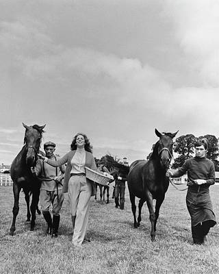 Helene Photograph - Marie-helene De Rothschild With Horses And Stable by Henry Clarke