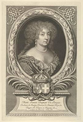 Sour Drawing - Marie Jeanne Baptiste De Savoie-nemours by Robert Nanteuil