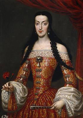 Marie Louise Painting - Marie-louise Of Orleans. Queen Of Spain by Jose Garcia Hidalgo