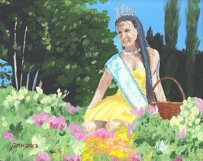 Festivale Painting - Mariela Reina Del Festival De Las Flores 2012 by Glenn Harden