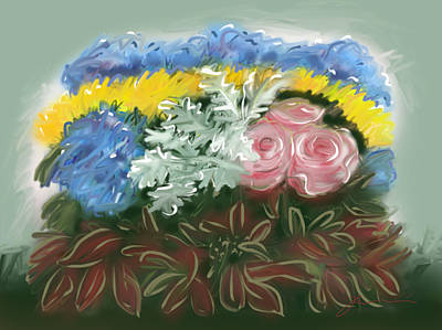 Painting - Marie's Flowers by Jean Pacheco Ravinski
