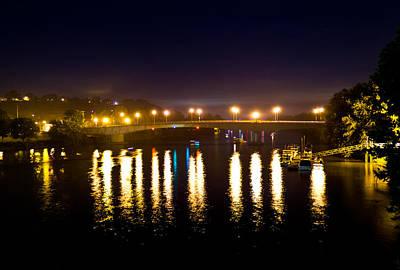 Photograph - Marietta Bridge At Night by Jonny D
