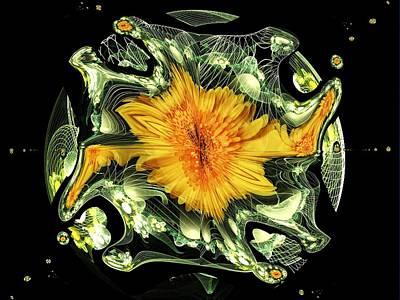 Digital Art - Marigold And Apophysis by Nancy Pauling