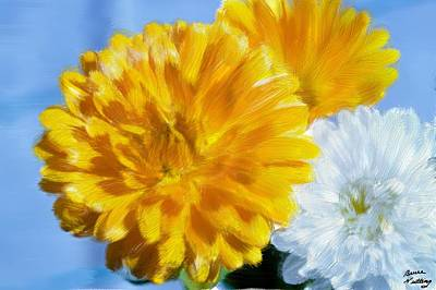 Flower Painting - Marigolds by Bruce Nutting