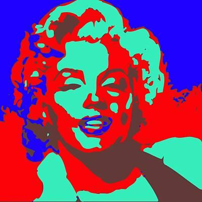 Marilin Monroe Andy Warhol Stile Art Print