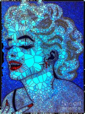 Painting - Marilyn 1 Abstract by Saundra Myles