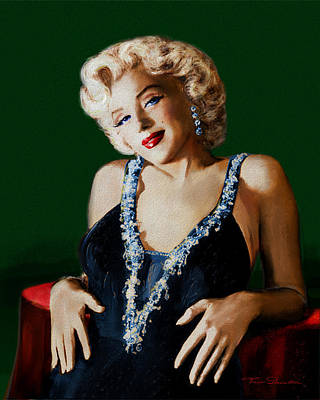 Painting - Marilyn 126 Green by Theo Danella