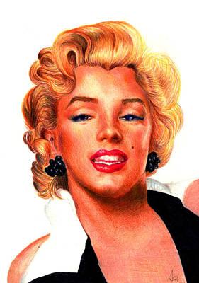 Pastel - Marilyn by Alessandro Della Pietra