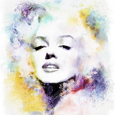 Woman Mixed Media - Marilyn American Beauty by Shanina Conway