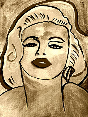 Painting - Marilyn B And W by Nikki Dalton