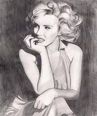 Drawing - Marilyn by Beverly Marshall