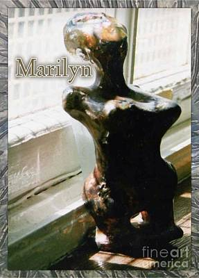 Ceramic Art - Marilyn Cubism Sculpture by Joan-Violet Stretch