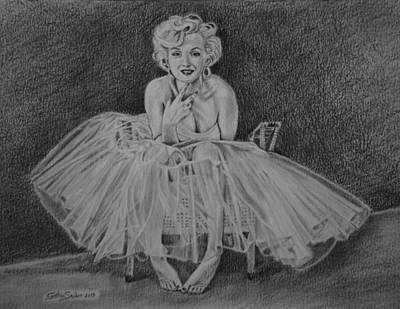 Sex Symbol Drawing - Marilyn  by Cynthia Snider