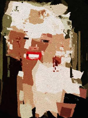 Digital Art - Marilyn by David Hansen