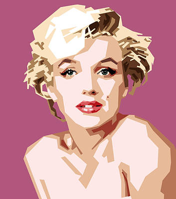 Actors Wall Art - Digital Art - Marilyn by Douglas Simonson