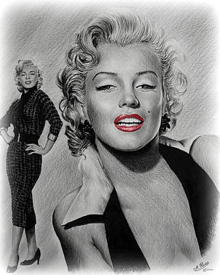Marilyn Hot Lips Version Art Print by Andrew Read