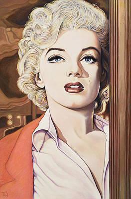 Marilyn In Bus Stop Art Print