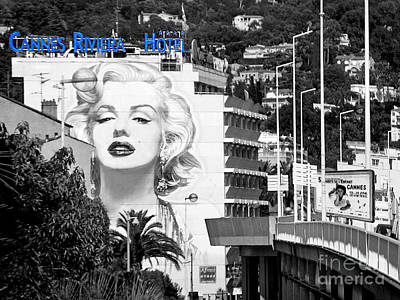 Photograph - Marilyn In Cannes by Jennie Breeze